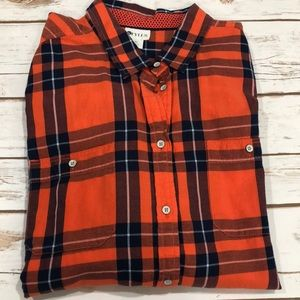 Stylus Ladies plaid button down XL